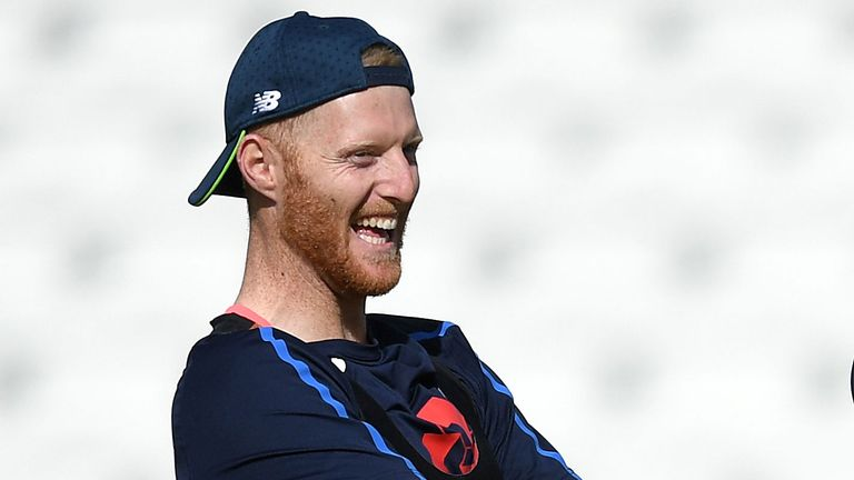 All-rounder Ben Stokes during England nets at Trent Bridge