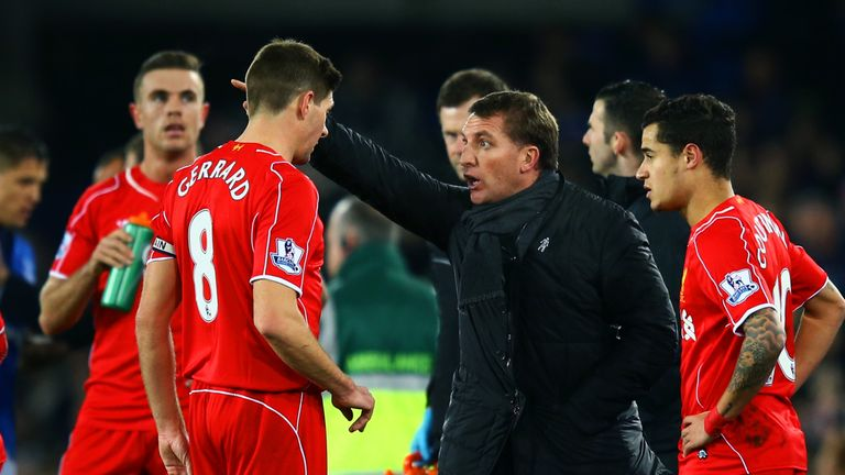 Steven Gerrard played under Brendan Rodgers at Liverpool
