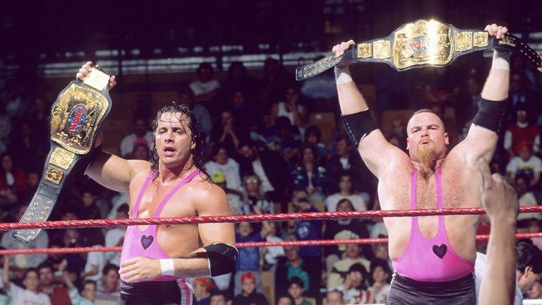 Jim Neidhart twice held the WWF World tag team titles alongside Bret Hart