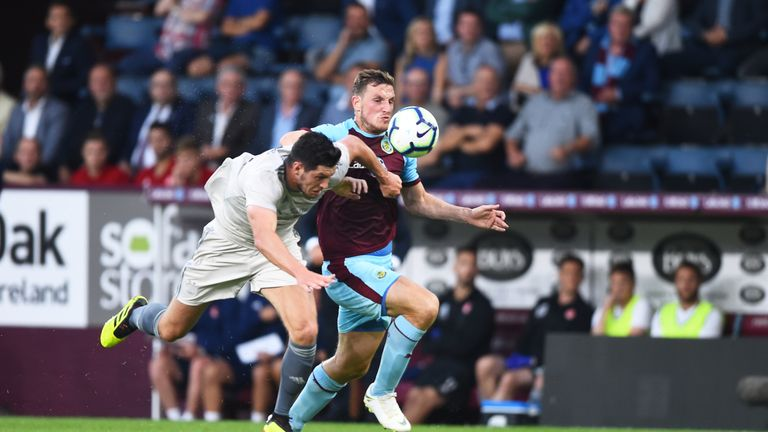 McKenna in action against Burnley