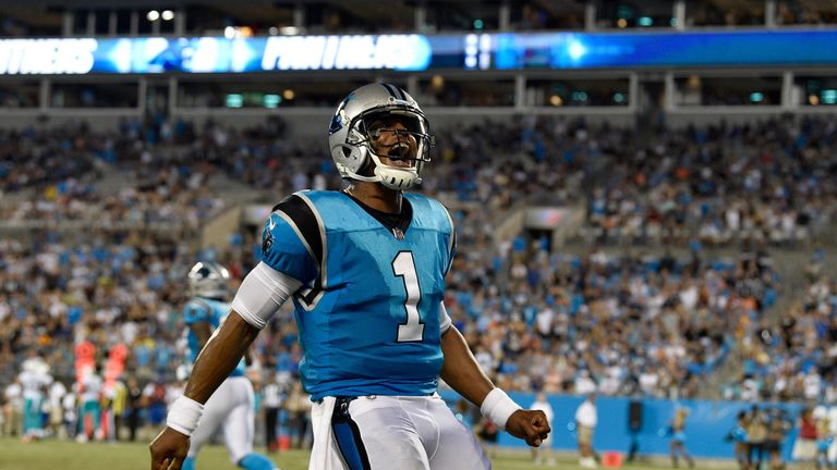 Cam Newton is the Panthers' starting quarterback