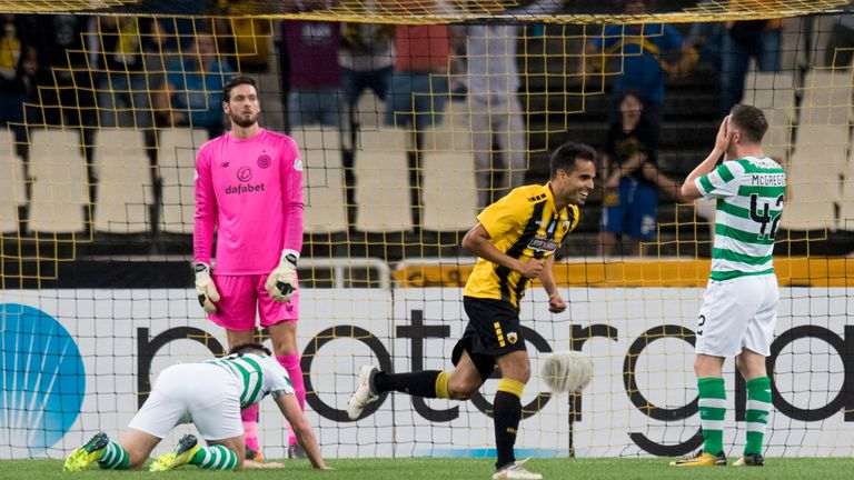 Celtic lost to AEK Athens in the third round of Champions League qualifying
