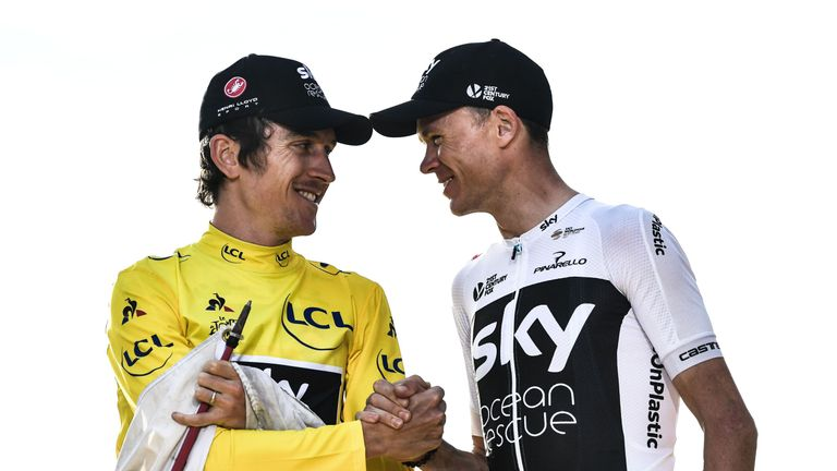 Geraint Thomas and Chris Froome will line up for Team Sky having won the Giro d'Italia and Tour de France in 2018