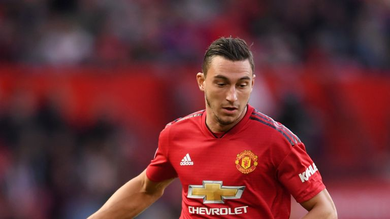 Matteo Darmian was also absent from United's training session on Monday