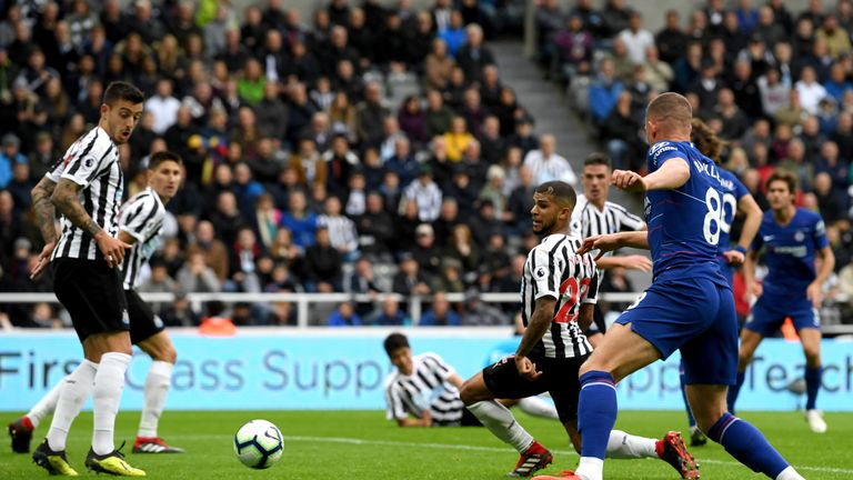 DeAndre Yedlin turns the ball into his own net for Chelsea's second