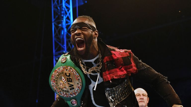 Wilder was ringside for Fury's last win