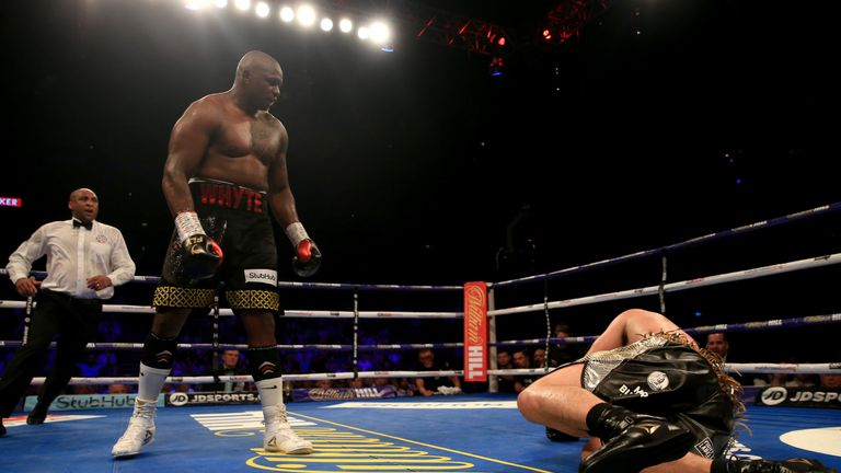 Ian John-Lewis was the referee for Whyte vs Parker