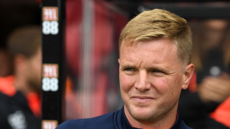 Bournemouth manager Eddie Howe prior to kick-off at the Vitality Stadium