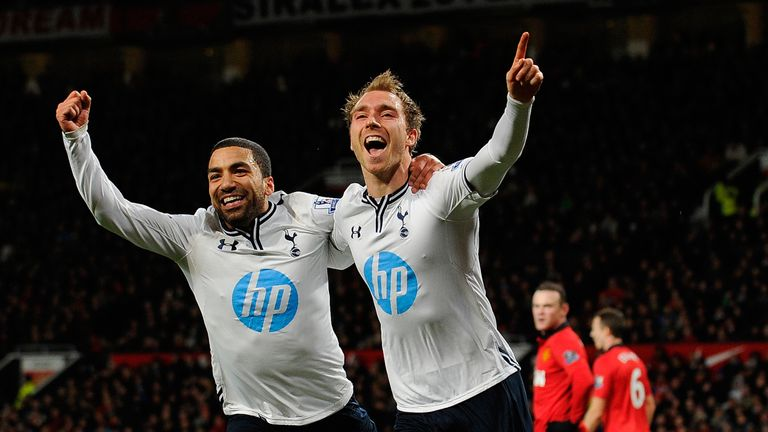Christian Eriksen scored Tottenham's last goal at Old Trafford on January 1, 2014