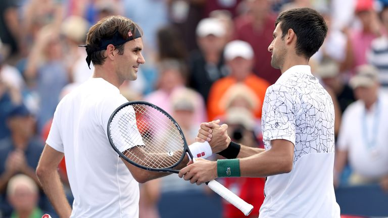 Novak Djokovic now leads the head-to-head against Roger Federer 24-22