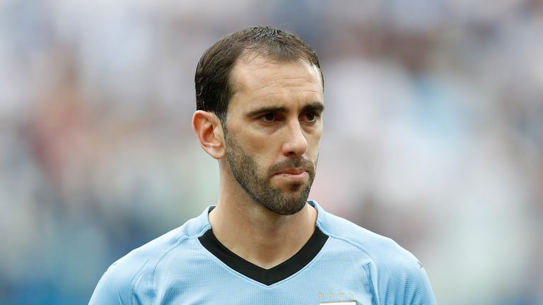 Godin captained Uruguay to this summer's World Cup quarter-finals