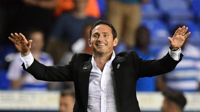 Lampard won his first game as Derby came from behind to beat Reading 2-1