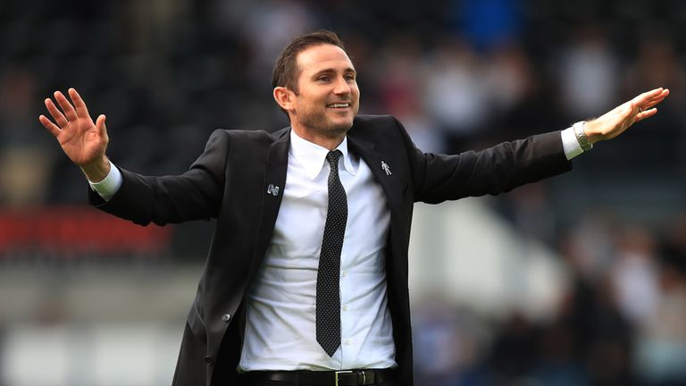 Frank Lampard has enjoyed his first steps into management with Derby