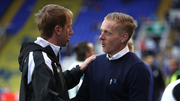 Swansea boss Graham Potter (left) and Birmingham boss Garry Monk were both facing their former sides
