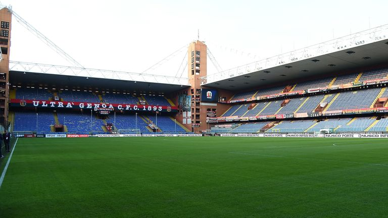 Genoa and Sampdoria share the Stadio Luigi Ferraris in Genoa, Italy