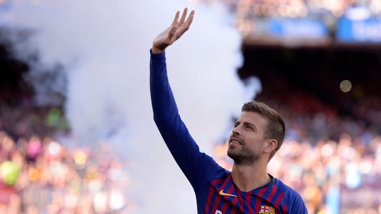 Gerard Pique's goal set Barcelona on their way