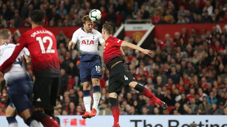 Kane scored a superb header to put Tottenham ahead on 50 minutes