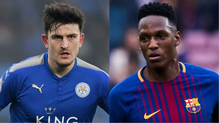 Manchester United have cooled their interest in Harry Maguire (left) and are now targeting Yerry Mina