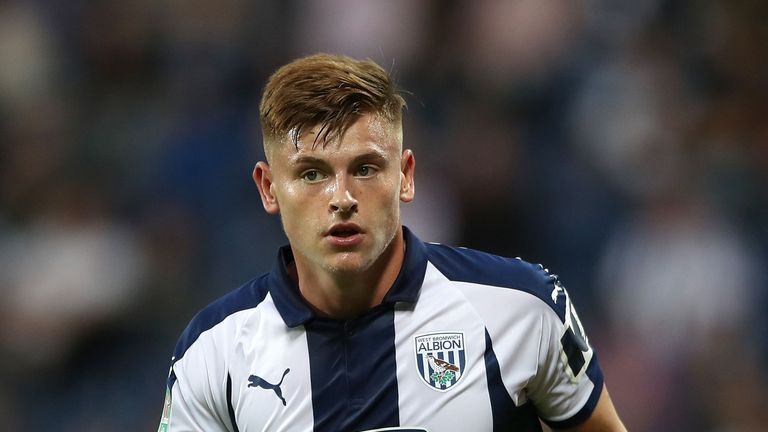 Harvey Barnes during the Carabao Cup, First Round match against Luton Town at The Hawthorns