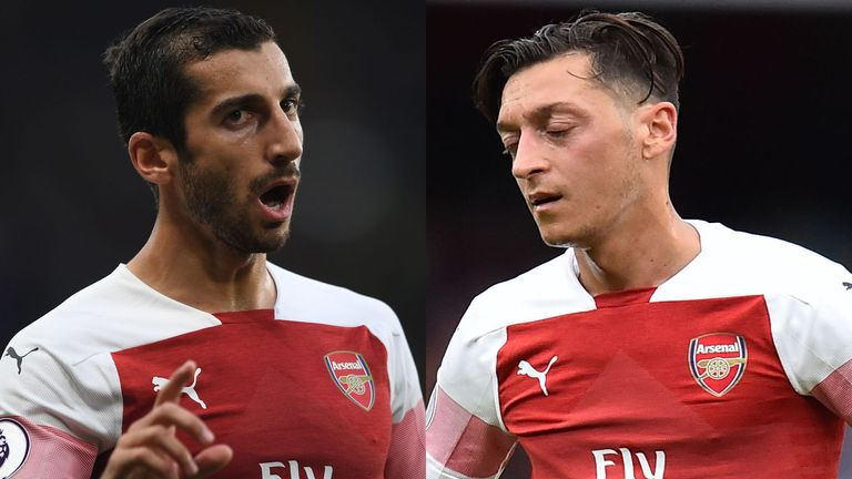 Paul Merson believes Henrikh Mkhitaryan and Mesut Ozil do not fit Unai Emery's system at Arsenal