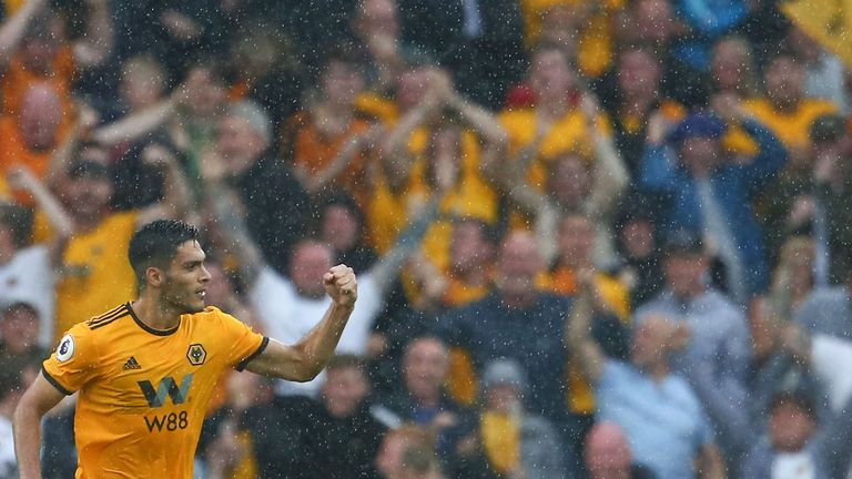 Benfica loanee Raul Jimenez grabbed a debut goal for Wolves