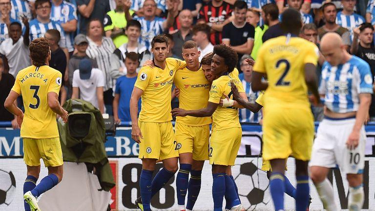 Chelsea beat Huddersfield 3-0 on Saturday