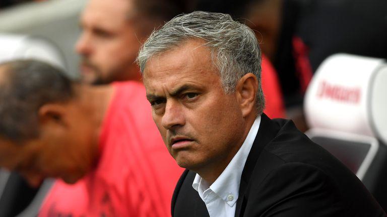 Jose Mourinho during Brighton v Man Utd