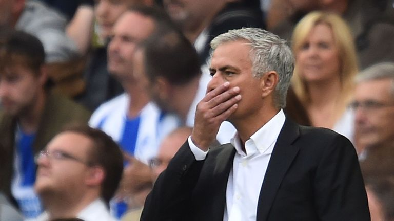 Jose Mourinho's side struggled in the attacking third against Brighton