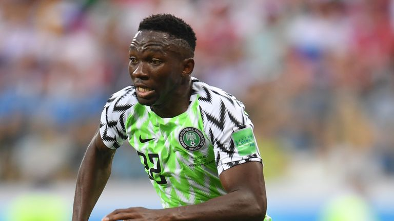 Kenneth Omeruo represented Nigeria at the World Cup in Russia