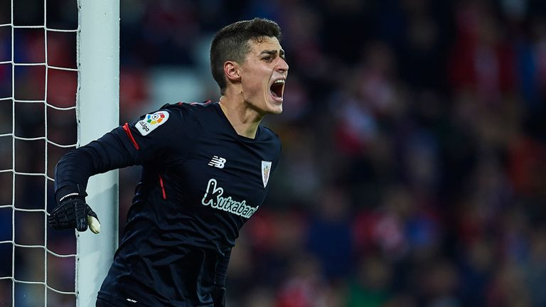 Kepa Arrizabalaga featured 30 times for Athletic Bilbao last season, keeping seven clean sheets