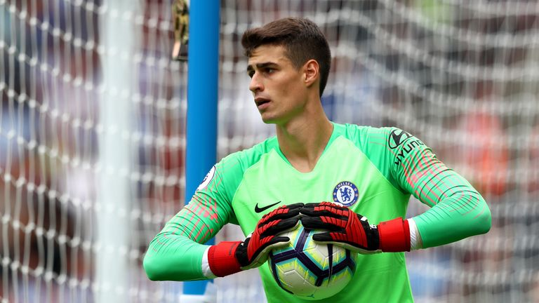 Kepa Arrizabalaga kept a clean sheet on his debut