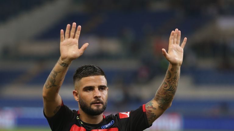 Insigne scored Lazio's first goal