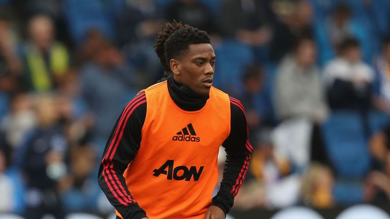 Anthony Martial was handed a rare starting place for United