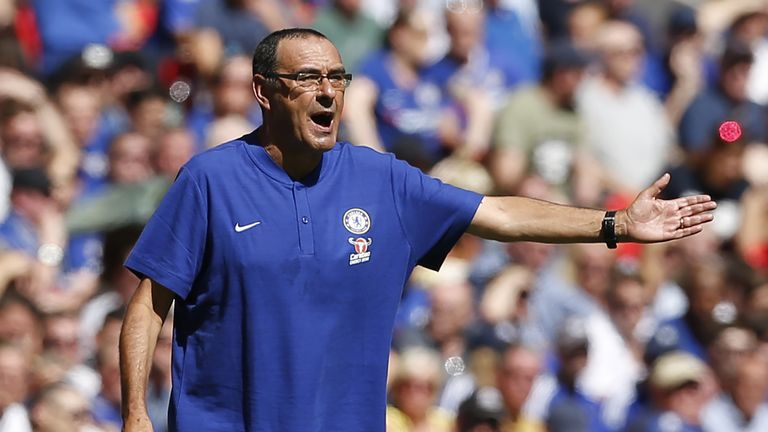 Maurizio Sarri will hope to see a reaction from his players after the City defeat