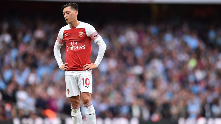 Mesut Ozil was not in the matchday 18 for Arsenal on Saturday