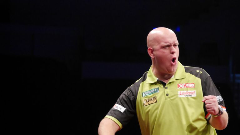 Michael van Gerwen at the Melbourne Darts Masters