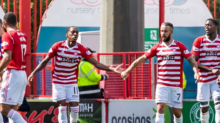 Dougie Imrie (right) scored his first goal of the season for Hamilton in 13 appearances in last weekend's draw with Kilmarnock