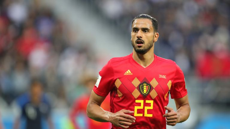 Nacer Chadli started for Belgium in their World Cup semi-final defeat to France