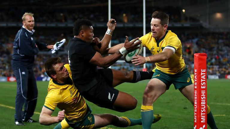 The All Blacks made a host of uncharacteristic errors in the first period, but the second half was different story