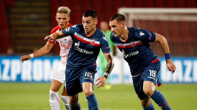 Red Star Belgrade battled past Red Bull Salzburg to make it into the group stage