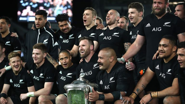 New Zealand retained the Bledisloe Cup a game early with their victory