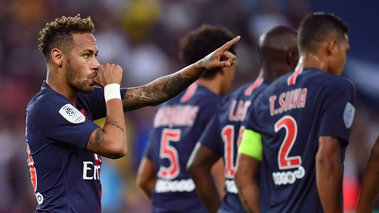 Neymar joined PSG in a world-record £200m deal from Barcelona in 2017