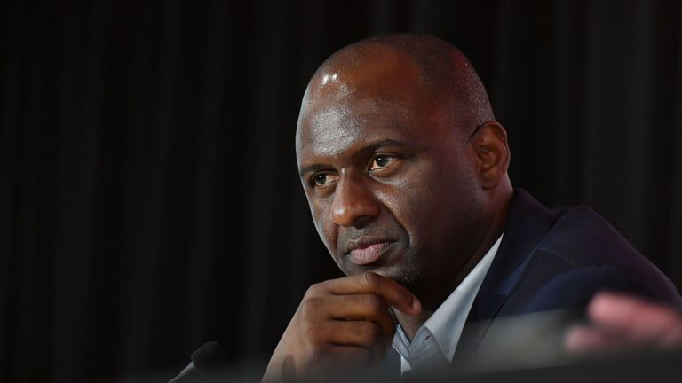 Patrick Vieira's first game as Nice boss ended in defeat