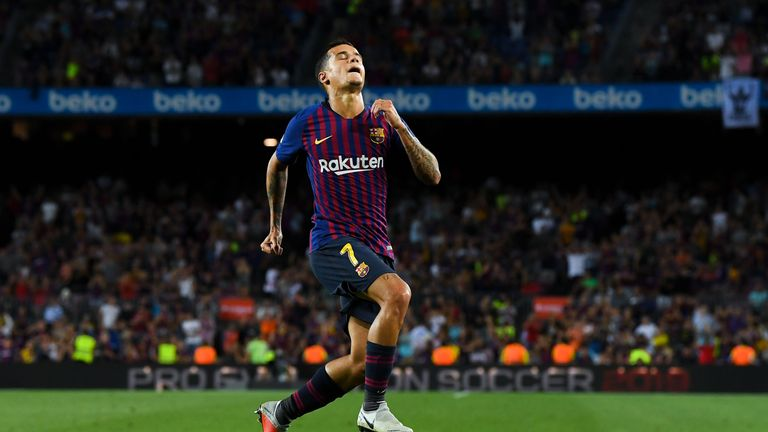 Philippe Coutinho also scored for Barcelona at the Nou Camp against Alaves