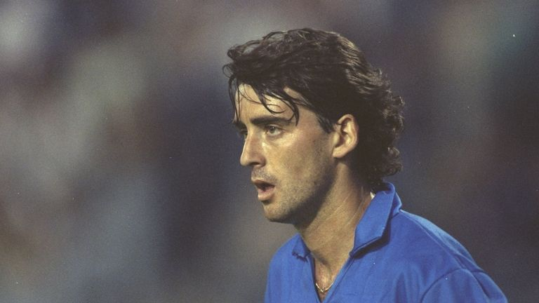 Roberto Mancini was a player of real flair for the Italy national team