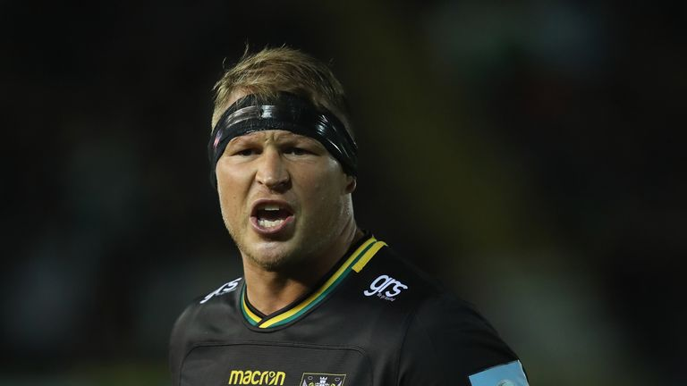 Dylan Hartley scored Northampton Saints' only try of the game