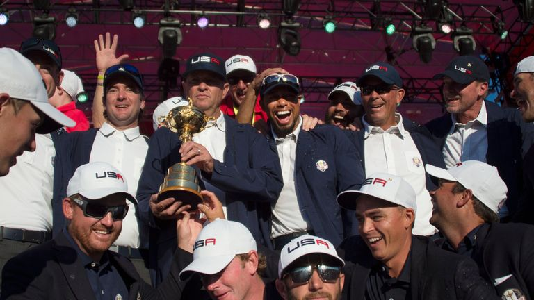 Team USA claimed a 17-11 victory at Hazeltine in 2016