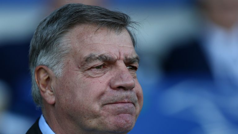 Sam Allardyce's last job in the Premier League was at Everton