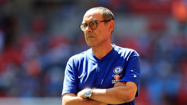 Maurizio Sarri is set to manage in the Premier League for the first time when Chelsea face Huddersfield