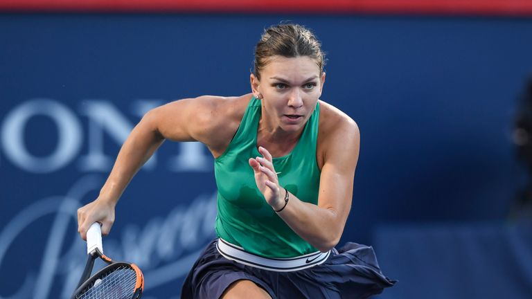 Simona Halep triumphed against Caroline Garcia to reach the last four
